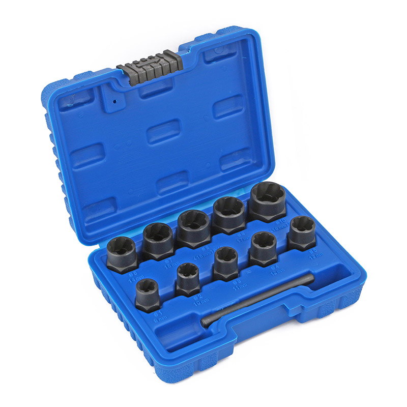11pc Bolt Nut Screw Extractor Set